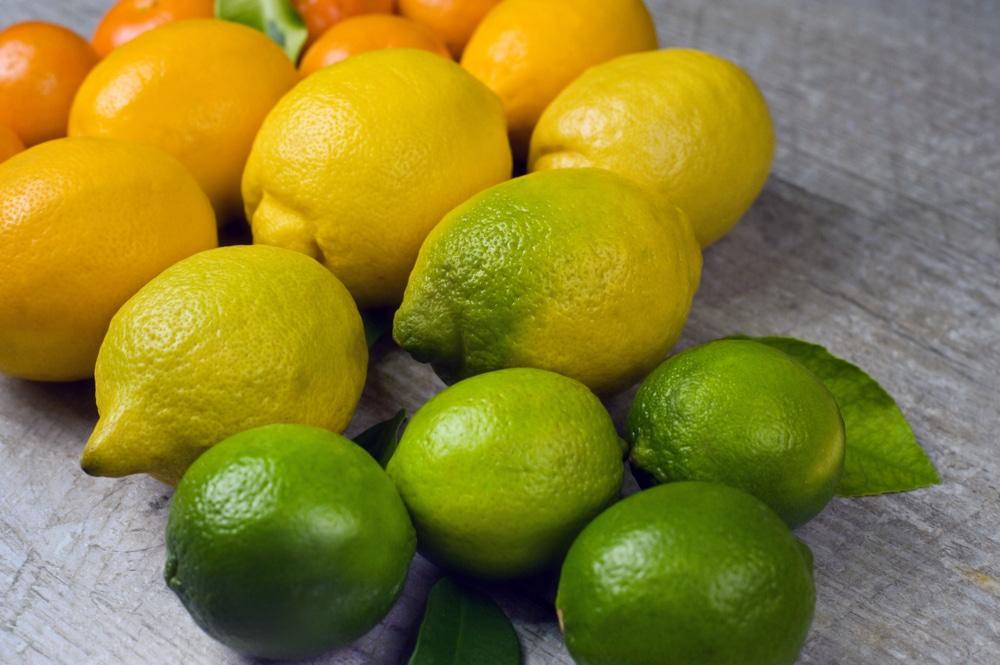 Eine Auswahl an Citrus Früchten