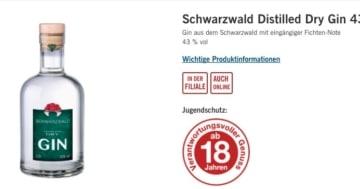 Der LIDL Schwarzwald Gin
