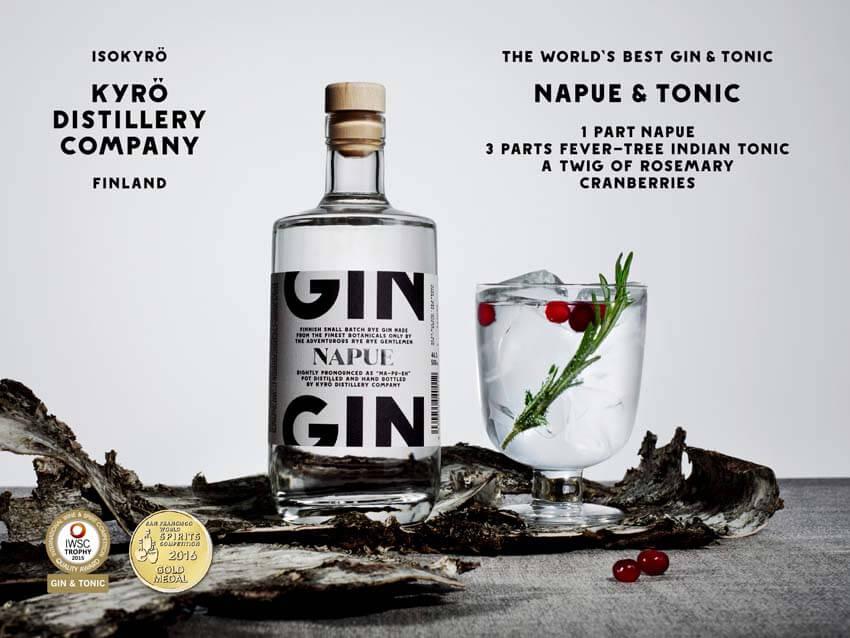 Napue Gin wurde auf der International Wine & Spirits Competition (IWSC) 2015 zum besten Gin gewählt