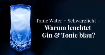 Tonic Water + Schwarzlicht – Warum leuchtet Gin & Tonic blau?